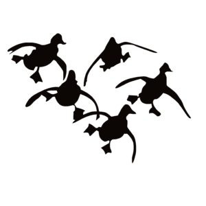 Duck Hunting 5 Ducks Coming at Ya! Decal