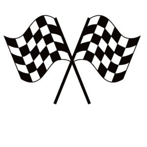 Racing Checker Flags Decal - Racing Checker Flags Sticker - 7170
